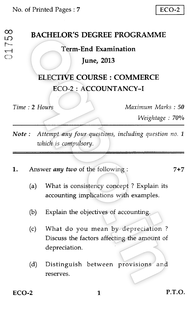 accountancy 1 and bege 101 Bcom with major in financial and cost accounting (bcom(f&ca))  bshf-101,  bege-103 and bege-104 are the revised course codes of.
