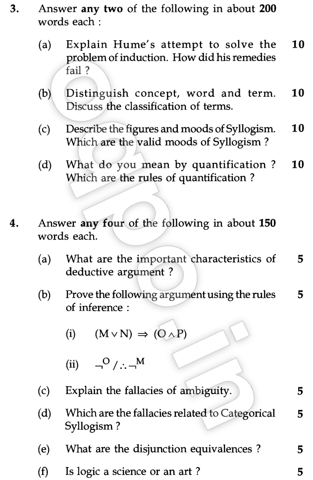 Ignou Bpy 002 Classical And Symbolic Logic Question Paper June 2015